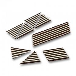 Triunghiuri domino alb/negru