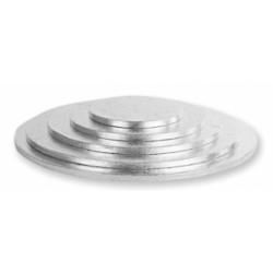Platforma tort rotunda argintie
