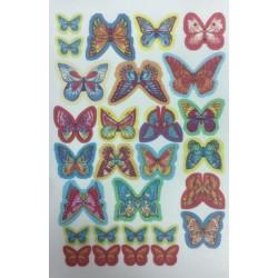 Foaie vafa printata - model Fluturi