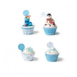 Set cupcakes wrappers - Frozen Stars