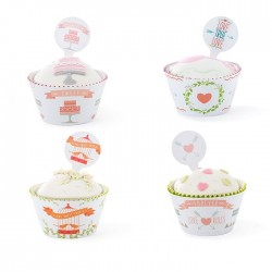 Set cupcakes wrappers - Amore