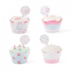 Set cupcakes wrappers - Fantasie Floreali